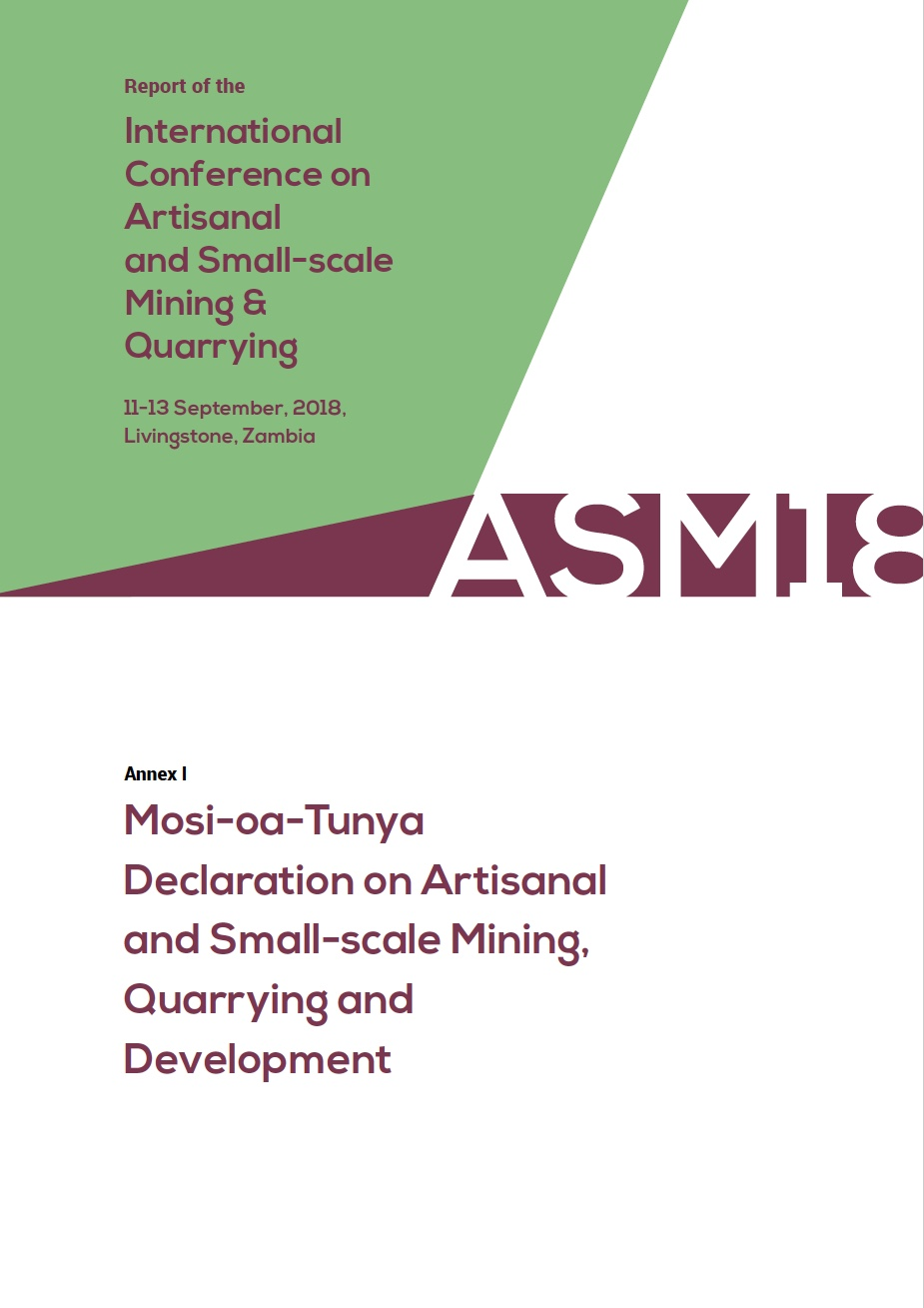 Mosi-oa-Tunya Declaration on Artisanal and Small-scale Mining, Quarrying and Development