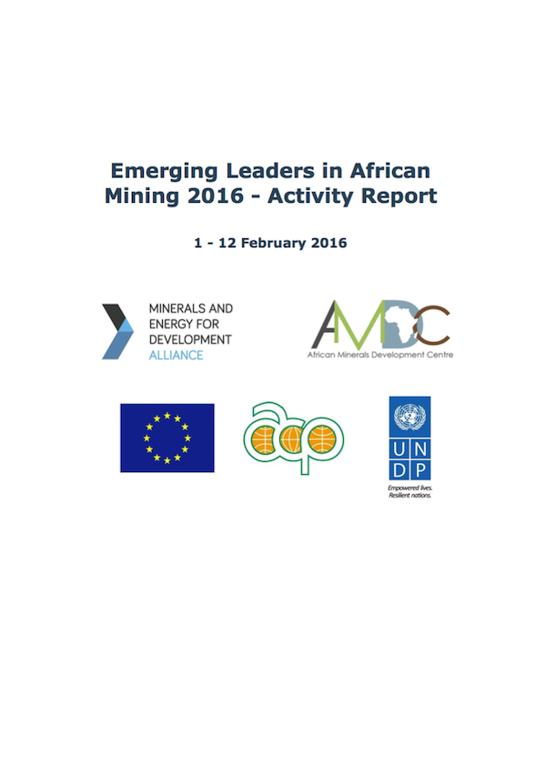Emerging Leaders in African Mining (ELAM) 2016 – Activity Report